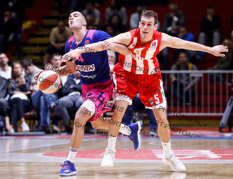 Kosarka ABA League season 2017-2018<br /> Crvena Zvezda v Mega Bemax<br /> Nikola Rebic (L) and Nikola Radicevic<br /> Beograd, 04.09.2017<br /> foto: Srdjan Stevanovic/Starsportphoto &copy;