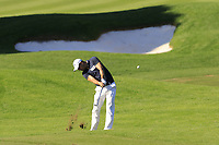 Martin Kaymer (GER) plays his 2nd shot on the 17th hole during Thursday's Round 1 of the 2018 Turkish Airlines Open hosted by Regnum Carya Golf &amp; Spa Resort, Antalya, Turkey. 1st November 2018.<br /> Picture: Eoin Clarke | Golffile<br /> <br /> <br /> All photos usage must carry mandatory copyright credit (&copy; Golffile | Eoin Clarke)