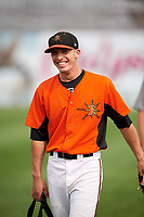 Frederick Keys Chris Clare (2) before the first game of a doubleheader against the Lynchburg Hillcats on June 13, 2018 at Nymeo Field at Harry Grove Stadium in Frederick, Maryland.  Frederick defeated Lynchburg 3-0.  (Mike Janes/Four Seam Images)