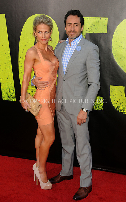 WWW.ACEPIXS.COM . . . . .  ....June 25 2012, LA....Actor Demian Bichir (R) and wife Stefanie Shark arriving at the premiere of ' 'Savages' at Westwood Village on June 25, 2012 in Los Angeles, California....Please byline: PETER WEST - ACE PICTURES.... *** ***..Ace Pictures, Inc:  ..Philip Vaughan (212) 243-8787 or (646) 769 0430..e-mail: info@acepixs.com..web: http://www.acepixs.com