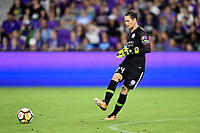 Orlando, FL - Saturday July 07, 2018: Ashlyn Harris during the second half of a regular season National Women's Soccer League (NWSL) match between the Orlando Pride and the Washington Spirit at Orlando City Stadium. Orlando defeated Washington 2-1.
