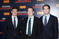 www.acepixs.com<br /> <br /> January 19 2017, New York City<br /> <br /> (L-R) Producer George Kunhardt, director Peter Kunhardt, and producer Teddy Kunhardt arriving at 'Becoming Warren Buffett' World premiere at The Museum of Modern Art on January 19, 2017 in New York City.<br /> <br /> By Line: Wong/ACE Pictures<br /> <br /> ACE Pictures Inc<br /> Tel: 6467670430<br /> Email: info@acepixs.com<br /> www.acepixs.com