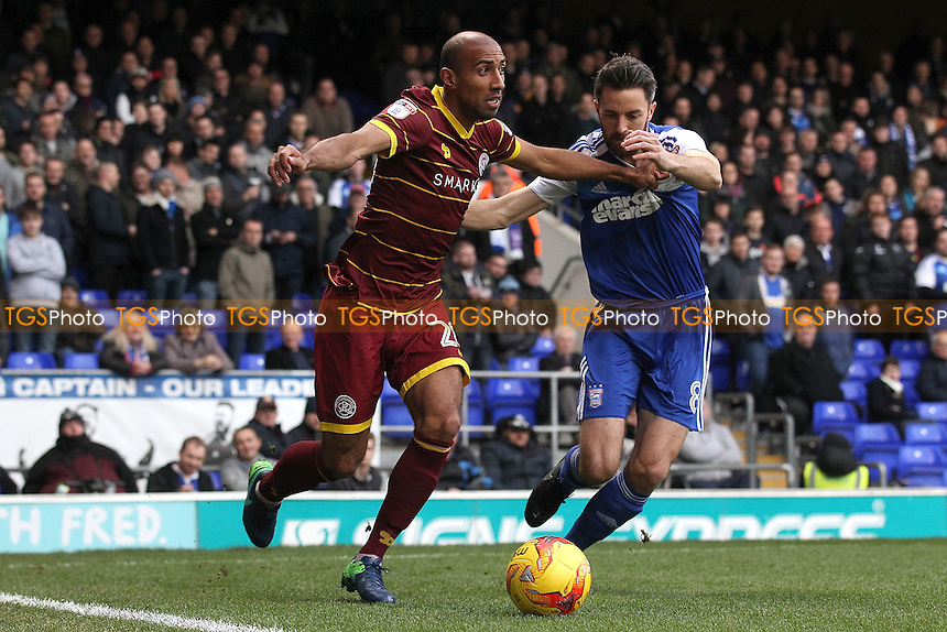 Karl Henry of QPR and Cole Skuse of Ipswich Town during Ipswich Town vs Queens Park Rangers, Sky Bet EFL Championship Football at Portman Road on 26th November 2016