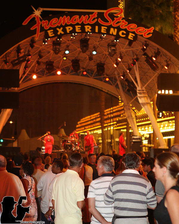 Fremont Street Experience  Garage Boys Perform