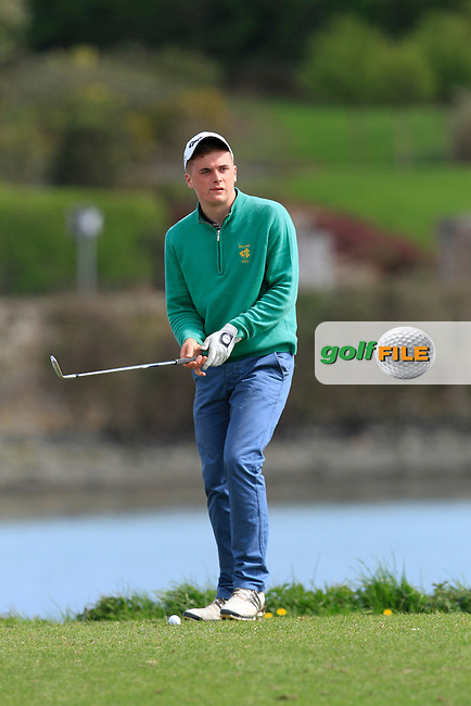 James Sugrue (Mallow) on the 13th during Day 2 of The Munster Youths' Amateur Open Championship in Dungarvan Golf Club on Thursday 24th April 2014.<br /> Picture:  Thos Caffrey / www.golffile.ie