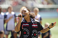 Portland, OR - Saturday September 02, 2017: Anthem Singer before a regular season National Women's Soccer League (NWSL) match between the Portland Thorns FC and the Washington Spirit at Providence Park.