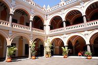 Arcades in the courtyard of Museo de la Ciudad de Veracruz or Veracruz City Museum, Veracruz, Mexico
