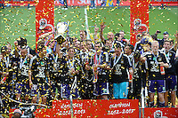 team of RSC anderlecht - joie - celebration .Anderlecht Campione del Belgio .Football Calcio 2012/2013.Jupiter League Belgio .Foto Insidefoto .ITALY ONLY