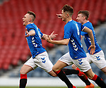 25.04.2019 Celtic v Rangers youth cup final: Ciaran Dickson celebrates the opener for Rangers