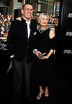 "HOLLYWOOD, CA. - April 30: Leonard Nimoy and wife Susan Bay arrive at the Los Angeles premiere of ""Star Trek"" at the Grauman's Chinese Theater on April 30, 2009 in Hollywood, California."