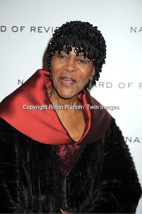 Cicely Tyson attends The National Board of Review Film Awards Gala on January 10, 2012 at Cipriani 42nd Street in New York City.