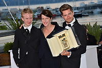 Victor Polster, Lukas Dhont &amp; Ursula Meier  at the photocall for &quot;Award Winners&quot; at the 71st Festival de Cannes, Cannes, France 19 May 2018<br /> Picture: Paul Smith/Featureflash/SilverHub 0208 004 5359 sales@silverhubmedia.com