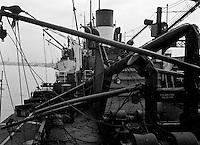 Mei 1964.  Schade aan een schip.