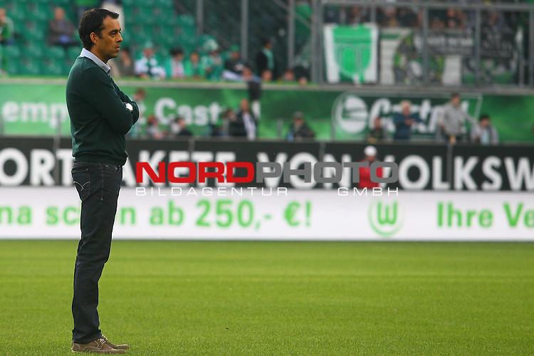 27.09.2014, Volkswagen Arena, Wolfsburg, GER, 1.FBL, VfL Wolfsburg vs SV Werder Bremen, im Bild Robin Dutt (Trainer Bremen)(Enttaeuschung)<br /> <br /> Foto &copy; nordphoto / Schrader