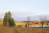 Empty farm fields in late fall