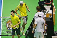 18-12-13,Netherlands, Rotterdam,  Topsportcentrum, Tennis Masters, Sidney de Boer and Daan Maasland  vs  Matwé Middelkoop and Miliaan Niesten  <br /> Photo: Henk Koster