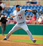 4 March 2009: New York Mets' pitcher Mike Pelfrey on the mound during a Spring Training game against the Washington Nationals at Space Coast Stadium in Viera, Florida. The Nationals rallied to defeat the Mets 6-4 . Mandatory Photo Credit: Ed Wolfstein Photo