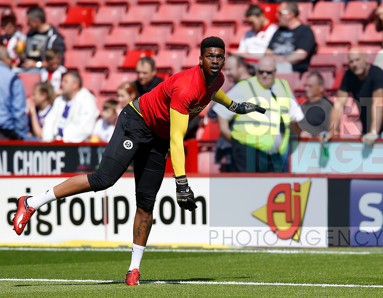 Jamal Blackman of Sheffield Utd during the English Championship League match at Bramall Lane Stadium, Sheffield. Picture date: August 5th 2017. Pic credit should read: Simon Bellis/Sportimage