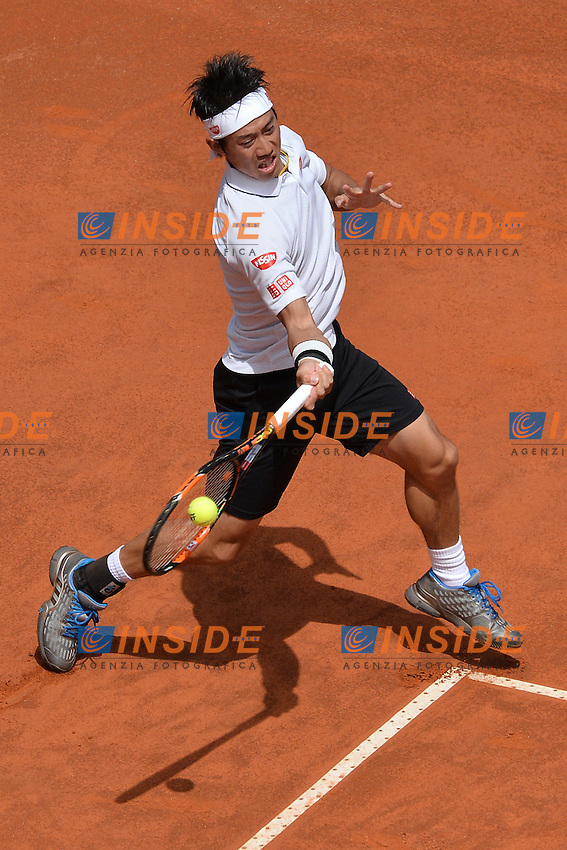 Kel Nishikori (JPN)<br /> Roma 10-05-2016  Foro Italico<br /> Internazionali BNL d'Italia, <br /> Tennis ATP<br /> Foto Antonietta Baldassarre / Insidefoto