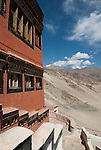 TIKSE, LADAKH, HIMALAYA, INDIA - SEPTEMBER 28, 2009: The Thikse Gompa or Thikse Monastery lies 19 km east of Leh in Ladakh at an altitude of approximately 3,600 m in the Indus valley. (Photo by Dirk