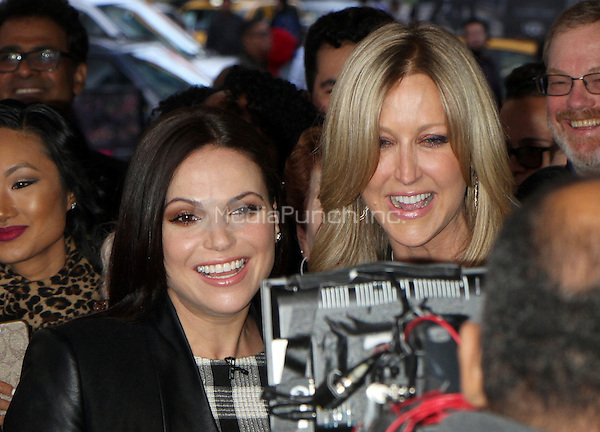 NEW YORK, NY - MAY 11: Lana Parrilla and Lara Spencer pictured at ABC's Good Morning America in New York City on May 11, 2016. Credit: RW/MediaPunch