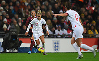 9th November 2019; Wembley Stadium, London, England; International Womens Football Friendly, England women versus Germany women; Rachel Daly of England brings the ball forward - Editorial Use
