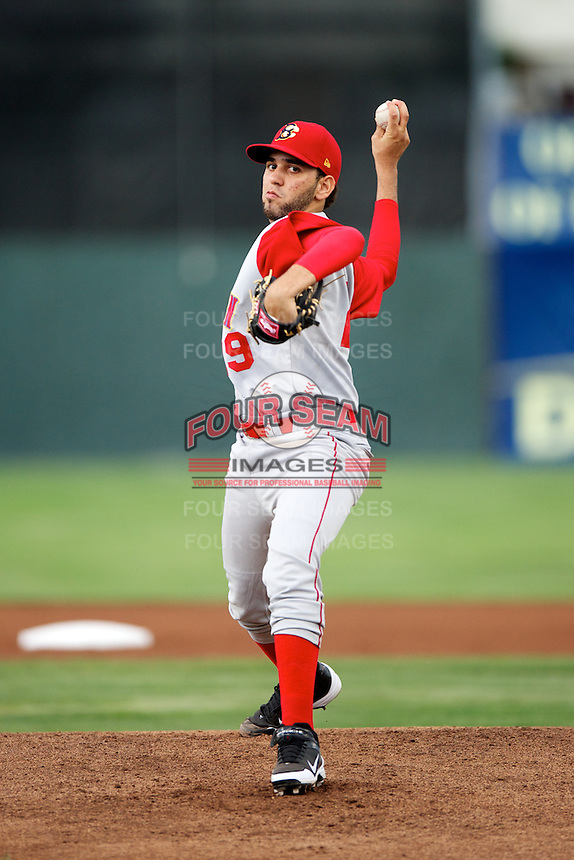 Brooklyn Cyclones pitcher Gabriel Ynoa #29 during a game against the Batavia Muckdogs at Dwyer Stadium on July 25, 2012 in Batavia, New York.  Brooklyn defeated Batavia 3-2.  (Mike Janes/Four Seam Images)