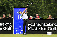 Victorv Perez (FRA) tees off the 18th tee during Sunday's Final Round of the Northern Ireland Open 2018 presented by Modest Golf held at Galgorm Castle Golf Club, Ballymena, Northern Ireland. 19th August 2018.<br /> Picture: Eoin Clarke | Golffile<br /> <br /> <br /> All photos usage must carry mandatory copyright credit (&copy; Golffile | Eoin Clarke)
