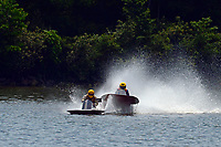 Frame 1: 40-M rides up the rooster tail of 20-M    (Outboard Hydroplane)