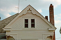 Augusta:  House-roofline, detail.  Queen Anne style (Victorian).  Photo '77.