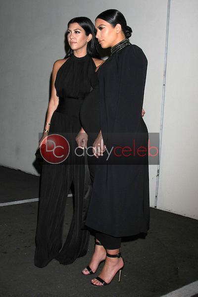 Kourtney Kardashian, Kim Kardashian West<br /> at the Cosmopolitan Magazine's 50th Anniversary Party, Ysabel, Los Angeles, CA 10-12-15<br /> David Edwards/DailyCeleb.com 818-249-4998