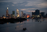 Saigon skyline after sunset