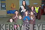 ROSE: Even the Kerry Rose  got in on the action to helping out and dress up as a Monk in the Guinness World Record were she met up with young monks at Ardfert NS on Saturday evening. they were, Aoiblin O'Flaherty, Ella O'Sullivan, katie O'Shea, Gavin Flaherty, Cian and Jamie O'Shea and the Kerry Rose Ann Marie Hayes.