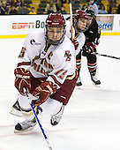 Joe Whitney (BC - 15), Cam Atkinson (BC - 13) - The Boston College Eagles defeated the Northeastern University Huskies 5-4 in their Hockey East Semi-Final on Friday, March 18, 2011, at TD Garden in Boston, Massachusetts.