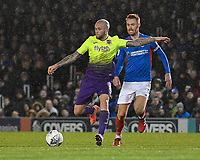 Nicky Law of Exeter City gets ahead of Tom Naylor of Portsmouth during Portsmouth vs Exeter City, Leasing.com Trophy Football at Fratton Park on 18th February 2020