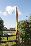 English Heritage sign for Hatfield Earthworks at the neolithic Marden Henge, Wiltshire, England