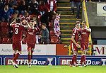 Aberdeen v St Johnstone&hellip;22.09.16.. Pittodrie..  Betfred Cup<br />Adam Rooney celebrates his goal<br />Picture by Graeme Hart.<br />Copyright Perthshire Picture Agency<br />Tel: 01738 623350  Mobile: 07990 594431