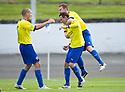 Morton's David OBrien celebrates after he scores Morton's fourth goal   ...