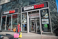 A Gamestop video game store in the Herald Square shopping district in New York on Thursday, January 15, 2015. GameStop shares increased the most in six years after the release of holiday sales figures. New titles are cited as the reason for increased sales countering low hardware sales (© Richard B. Levine)