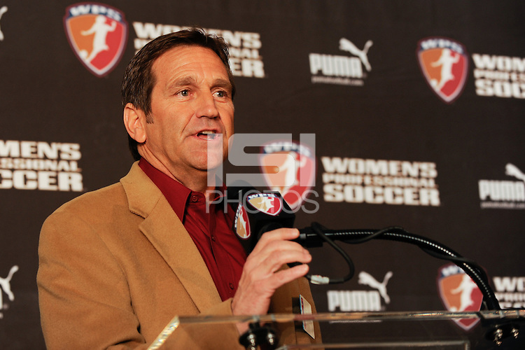 Notre Dame head coach and NSCAA president Randy Waldrum during the WPS Draft at the Pennsylvania Convention Center in Philadelphia, PA, on January 15, 2010.