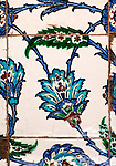 Iznik 21 - Iznik tiles in the tomb of Sultan Ahmet, Sultanahmet, Istanbul, Turkey