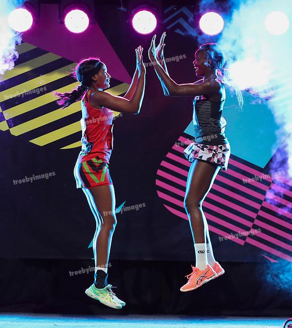 29/10/17 Fast5 2017<br /> Fast 5 Netball World Series<br /> Hisense Arena Melbourne<br /> Malawi v Sth Africa <br /> <br /> <br /> <br /> <br /> <br /> <br /> Photo: Grant Treeby