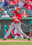 2 March 2013: Washington Nationals infielder Will Rhymes in action during a Spring Training game against the St. Louis Cardinals at Roger Dean Stadium in Jupiter, Florida. The Nationals defeated the Cardinals 6-2 in their first meeting since the NLDS series in October of 2012. Mandatory Credit: Ed Wolfstein Photo *** RAW (NEF) Image File Available ***