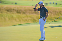Tommy Fleetwood (ENG) after sinkin his putt on 18 during Sunday's round 4 of the 117th U.S. Open, at Erin Hills, Erin, Wisconsin. 6/18/2017.<br /> Picture: Golffile | Ken Murray<br /> <br /> <br /> All photo usage must carry mandatory copyright credit (&copy; Golffile | Ken Murray)