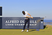 Jan Bengtsson (USA) on the 8th tee during Round 1 of the 2015 Alfred Dunhill Links Championship at Kingsbarns in Scotland on 1/10/15.<br /> Picture: Thos Caffrey | Golffile
