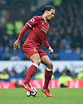Virgil van Dijk of Liverpool during the premier league match at Goodison Park Stadium, Liverpool. Picture date 7th April 2018. Picture credit should read: Robin Parker/Sportimage