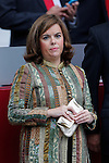 Soraya Saenz de Santamaria during Spanish National Day military parade in Madrid, Spain. October 12, 2015. (ALTERPHOTOS/Pool)