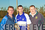 Darren Dineen capt of the Ardfert St Brendan's Senior Hurling team getting some tips from the Manager Mark Power and Jeremiah Clifford (chairman) on Monday evening. ...