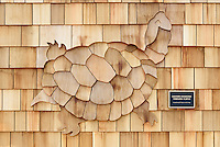 Shingle Design Detail. New Meigs Point Nature Center at Hammonasset Beach State Park. A Connecticut State Project No: BI-T-601 | Northeast Collaborative Architects  Contractor: Secondino & Son