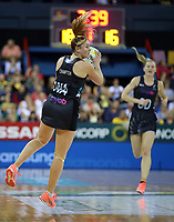 02.08.2017 Silver Ferns Gina Crampton in action during a netball match between the Silver Ferns and South Africa at the Brisbane Entertainment Centre in Brisbane Australia. Mandatory Photo Credit ©Michael Bradley.